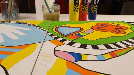 team-building artistique - fresque collective