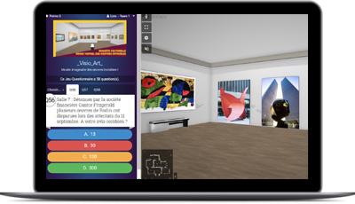 team-building digital dans un musée virtuel