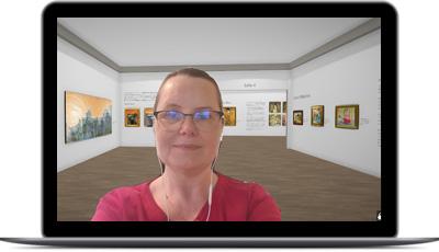 visite guidée dans un musée virtuel