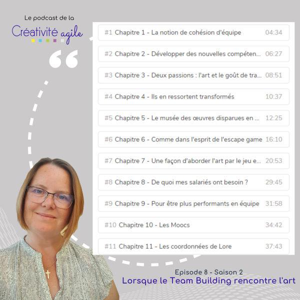 Podcast Creativité Agile chapitres interview Lore Ramalho